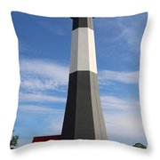 Tybee Island Lighthouse On Beautiful Day Throw Pillow