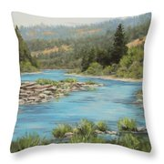 Tyee Morning Throw Pillow by Karen Ilari