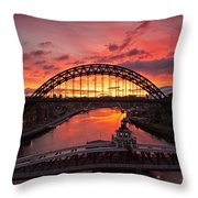 Tyne Bridges At Sunrise IIi Throw Pillow