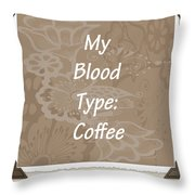 Type Scrapbook Throw Pillow