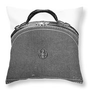 Typewriter Case, 1889 Throw Pillow