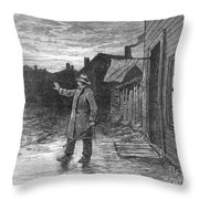 Typhoid Fever, 1885 Throw Pillow
