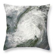 Typhoon Haikui Makes Landfall Throw Pillow