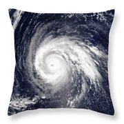Typhoon Higos Throw Pillow