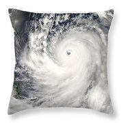 Typhoon Man-yi Throw Pillow