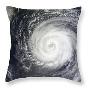 Typhoon Muifa East Of Taiwan Throw Pillow