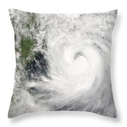 Typhoon Prapiroon Throw Pillow