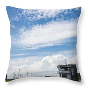 Typical Dutch Lock And Control Room Throw Pillow