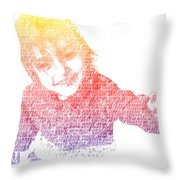 Typography Portrait Childhood Wonder Throw Pillow by Nikki Marie Smith