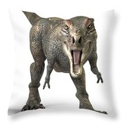 Tyrannosaurus Rex  Throw Pillow by Roger Hall and Photo Researchers