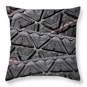 Tyres Stacked With Focus Depth Throw Pillow