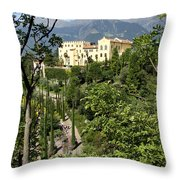 Tyrolean Alps And Palace Throw Pillow