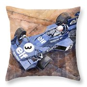 Tyrrell Ford 007 Jody Scheckter 1974 Swedish Gp Throw Pillow