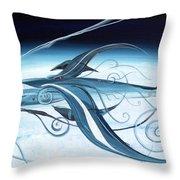 U2 Spyfish - Spy Plane As Abstract Fish - Throw Pillow