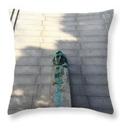 Uc Berkeley . Sather Tower . The Campanile . Clock Tower . Bust Of Abraham Lincoln . 7d10070 Throw Pillow