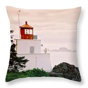 Ucluelet Lighthouse Throw Pillow