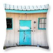 Ufo House Throw Pillow