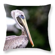 Ugly Beauty - Brown Pelican Throw Pillow