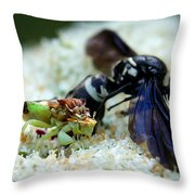 Ugly Bug Feast 2 Throw Pillow
