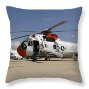 Uh-3h Sea King Helicopters Based Throw Pillow