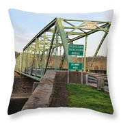 Uhlerstown Frenchtown Bridge Throw Pillow