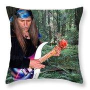Uli Jon Roth At Muir Woods Throw Pillow