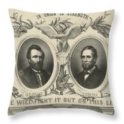 Ulyssess S Grant And Schuyler Colfax Republican Campaign Poster Throw Pillow