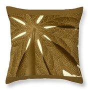 Umbrella In Sepia Throw Pillow