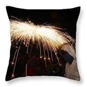 Umbrella Of Sparks Throw Pillow