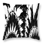 Undefined Black Lace Throw Pillow