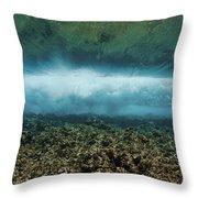 Under An Ocean Wave Throw Pillow