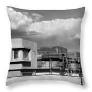Under Construction Bw Palm Springs Throw Pillow