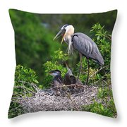 Under Mother's Shadow Throw Pillow