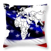 Under Protection Map Throw Pillow
