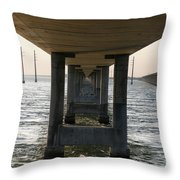 Under Seven Mile Bridge Throw Pillow