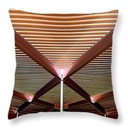 Under The Canopy Tramway Gas Station Throw Pillow