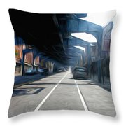 Under The El Throw Pillow