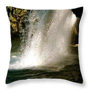 Under The Falls Throw Pillow