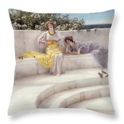 Under The Roof Of Blue Ionian Weather Throw Pillow