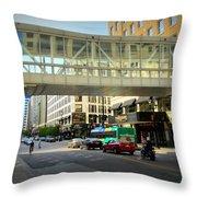 Under The Skywalk - Street Lamp Throw Pillow