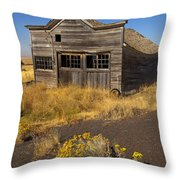 Under The Weight Of It All Throw Pillow by Mike  Dawson