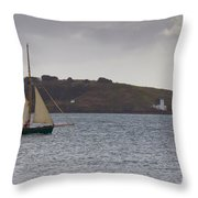Under Way Reefed In Throw Pillow