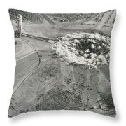 Underground Atomic Bomb Test Throw Pillow