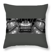 Underground Escalator Throw Pillow