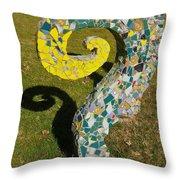 Underground Octopus Throw Pillow