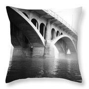 Underneath The Fog Throw Pillow