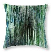Underwater Forest Throw Pillow