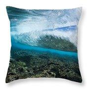 Underwater Wave Throw Pillow