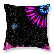 Unexpected Visitor Throw Pillow