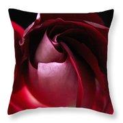 Unfolding Rose Throw Pillow